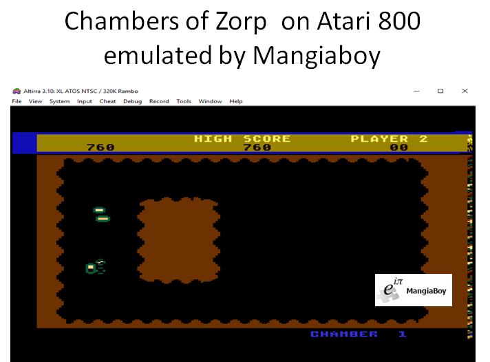 MangiaBoy: Chambers of Zorp (Atari 400/800/XL/XE Emulated) 760 points on 2018-12-26 06:53:21