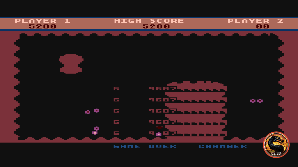 omargeddon: Chambers of Zorp (Atari 400/800/XL/XE Emulated) 5,280 points on 2019-06-23 13:55:11
