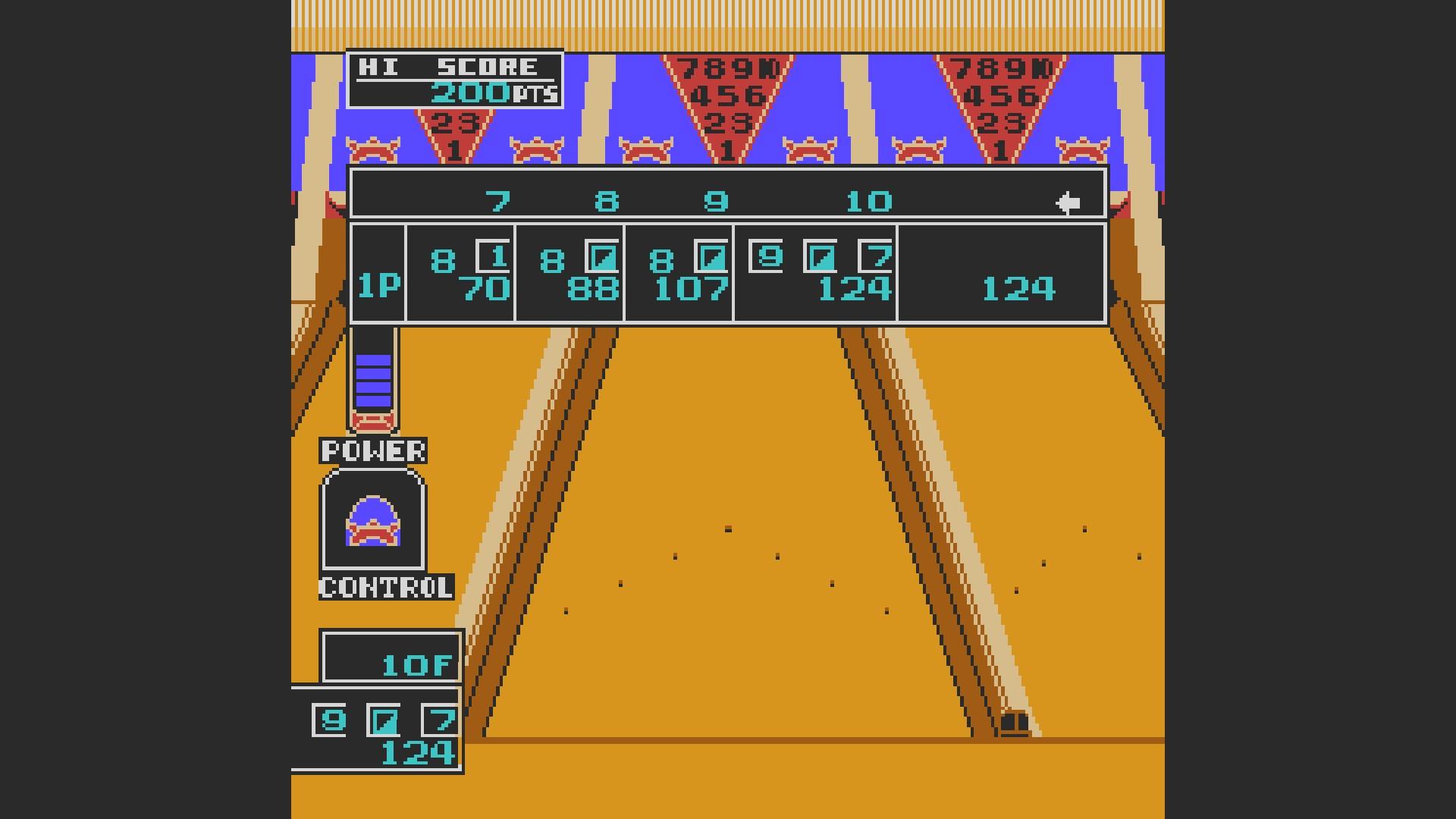 AkinNahtanoj: Championship Bowling (NES/Famicom Emulated) 124 points on 2020-10-23 06:32:02
