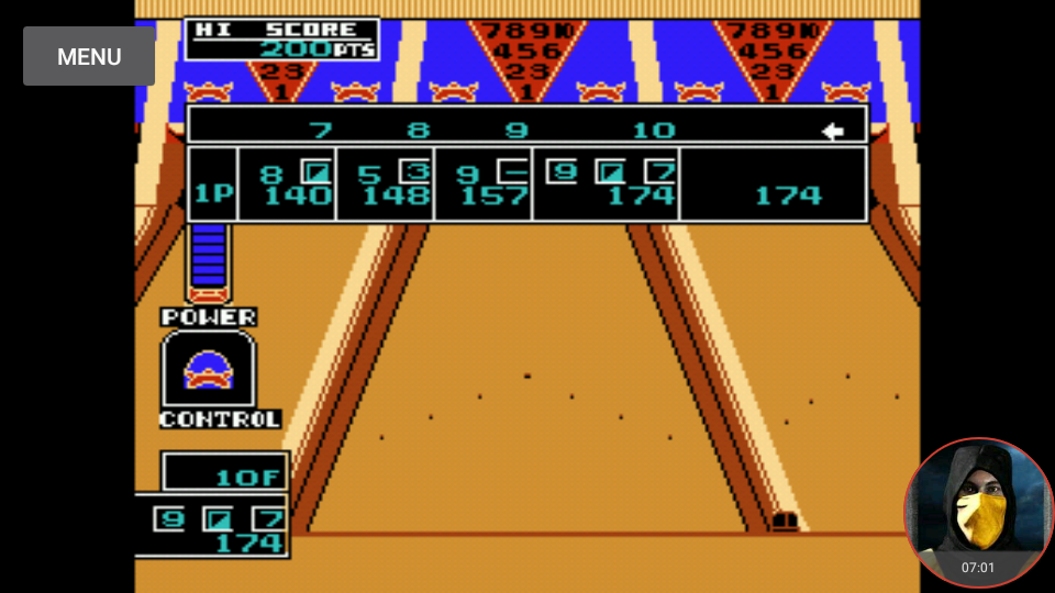 omargeddon: Championship Bowling (NES/Famicom Emulated) 174 points on 2018-03-18 14:29:08