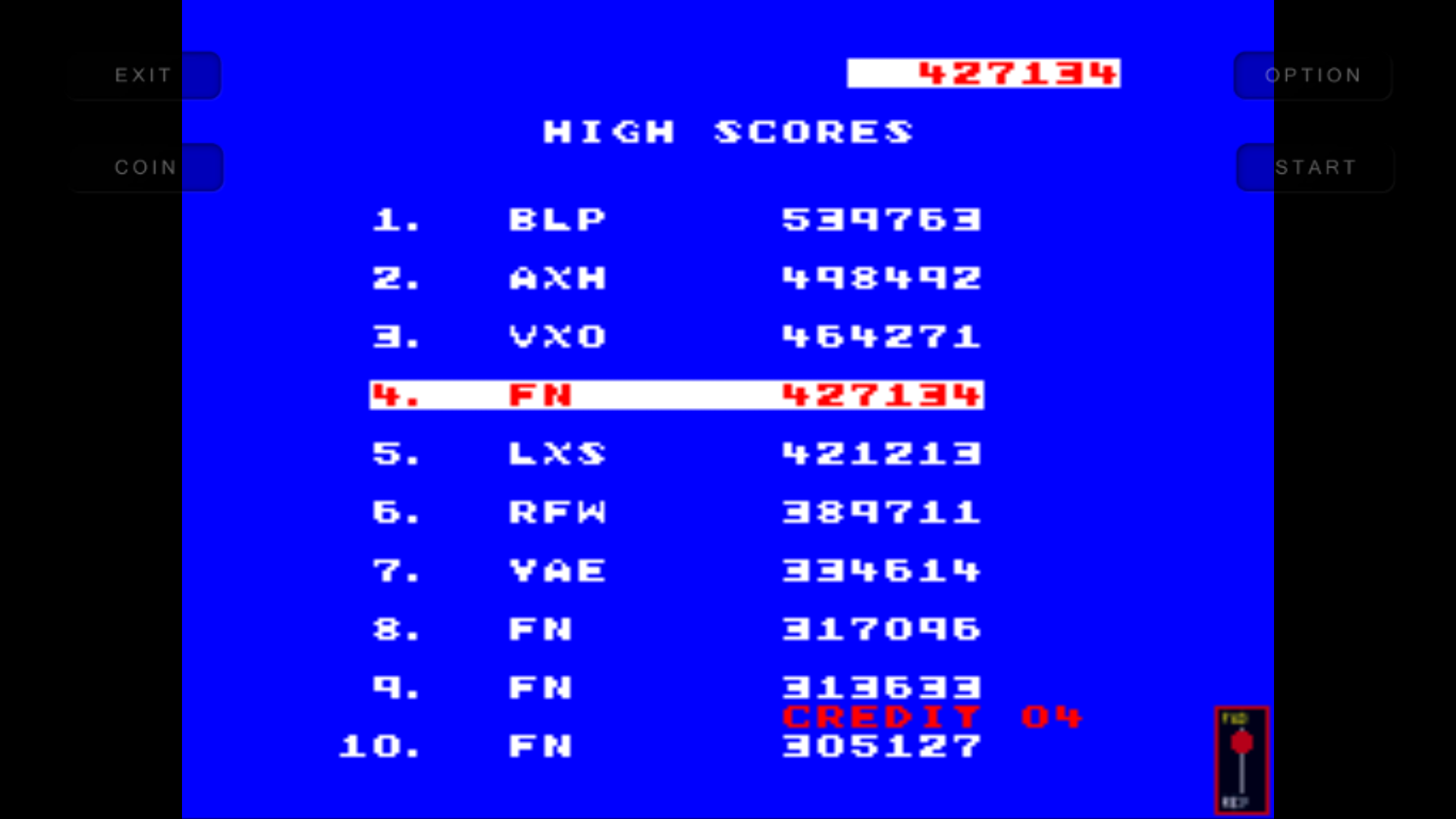 mechafatnick: Change Lanes [changela] (Arcade Emulated / M.A.M.E.) 427,134 points on 2016-04-28 08:02:36
