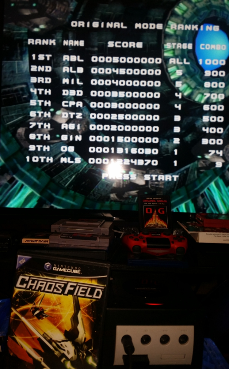 OriginalGamer: Chaos Field [Original Mode/Normal/Shield 3] (GameCube) 1,316,030 points on 2017-12-20 00:04:58