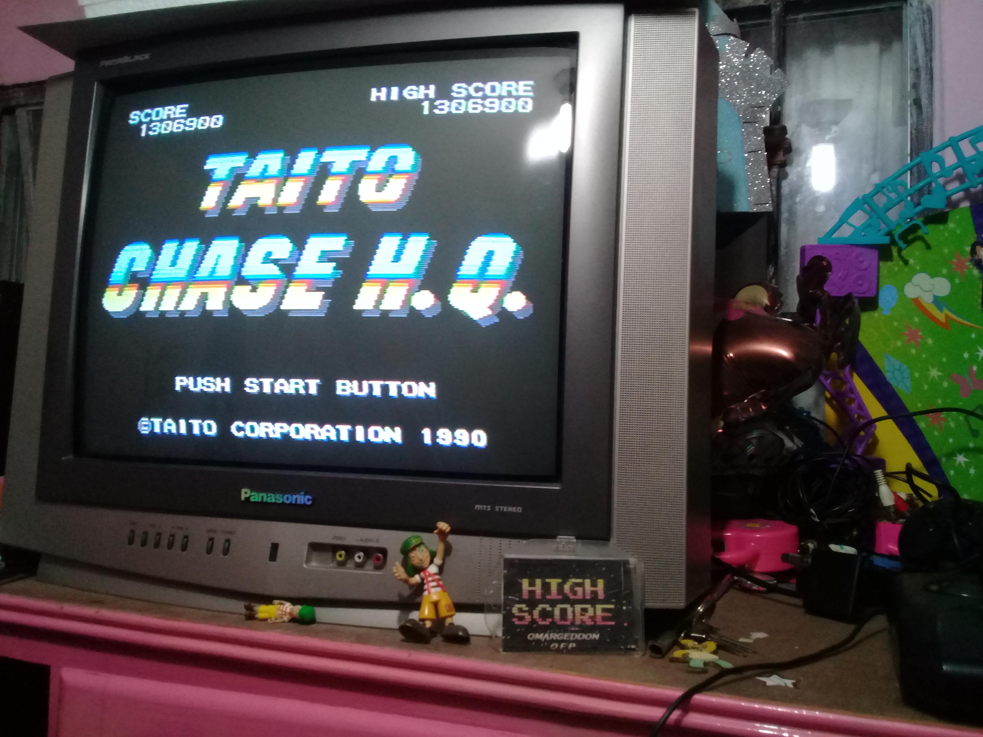 omargeddon: Chase HQ (Sega Master System) 1,306,900 points on 2019-01-06 20:41:09