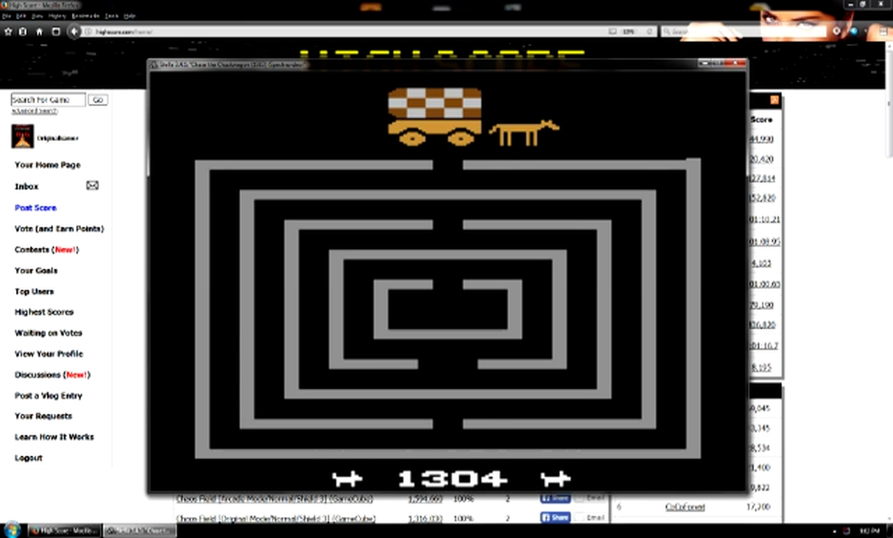 OriginalGamer: Chase the Chuck Wagon (Atari 2600 Emulated Novice/B Mode) 1,304 points on 2018-01-07 04:23:41