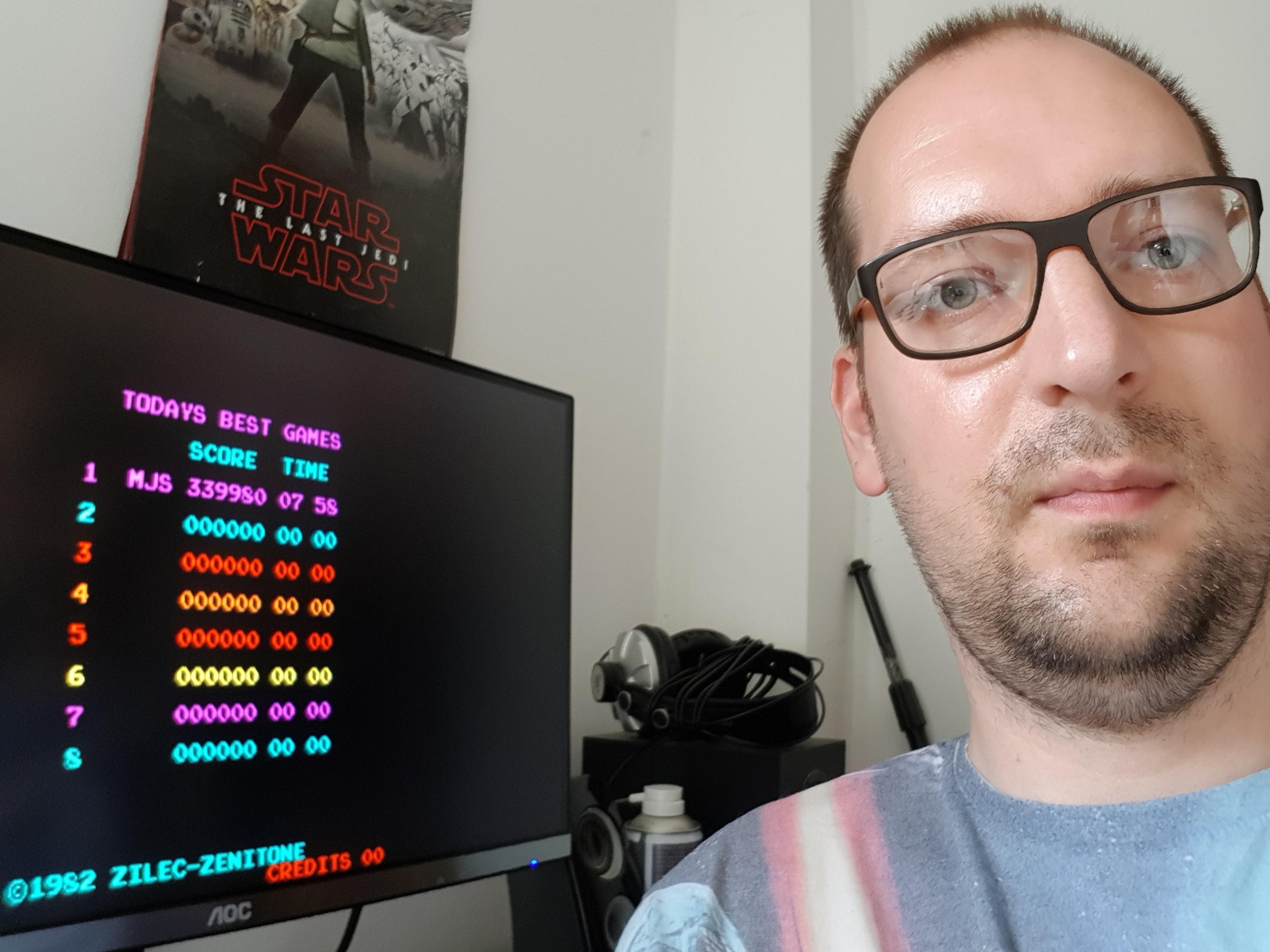 mitchuk: Check Man [checkman] (Arcade Emulated / M.A.M.E.) 339,980 points on 2018-07-28 04:11:06