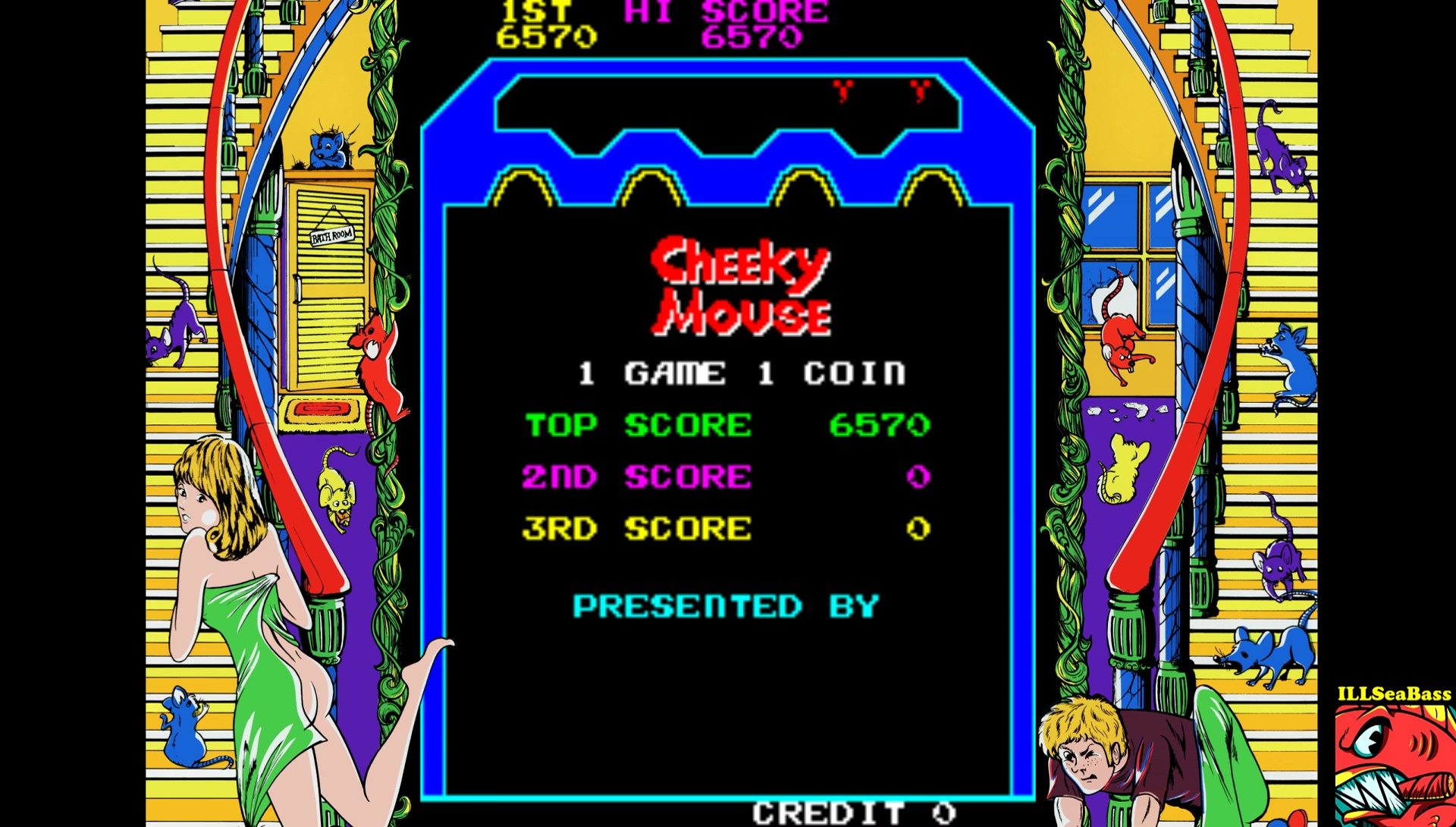 ILLSeaBass: Cheeky Mouse [cheekyms] (Arcade Emulated / M.A.M.E.) 6,570 points on 2017-07-15 23:31:49