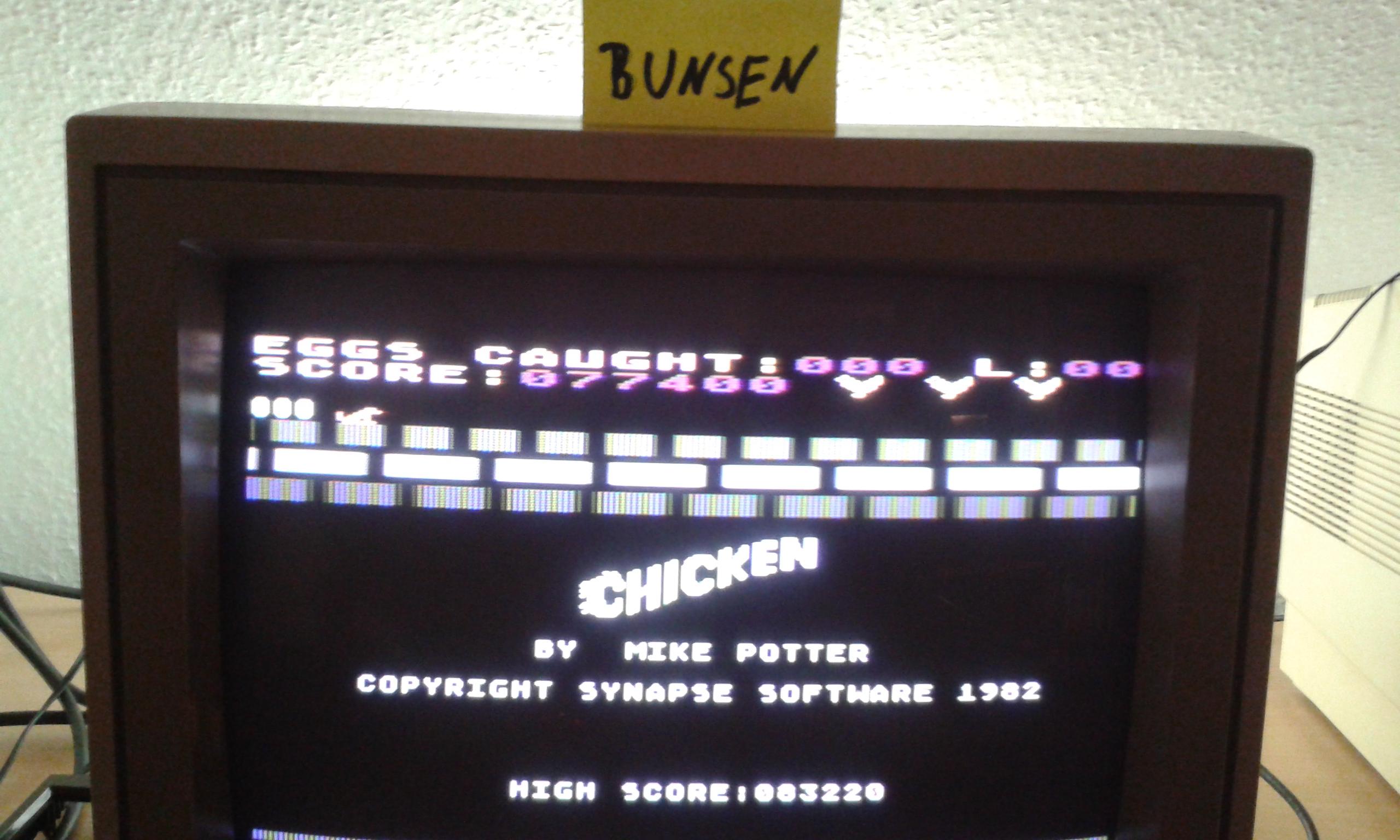 Bunsen: Chicken (Atari 400/800/XL/XE) 77,400 points on 2015-10-30 14:28:21