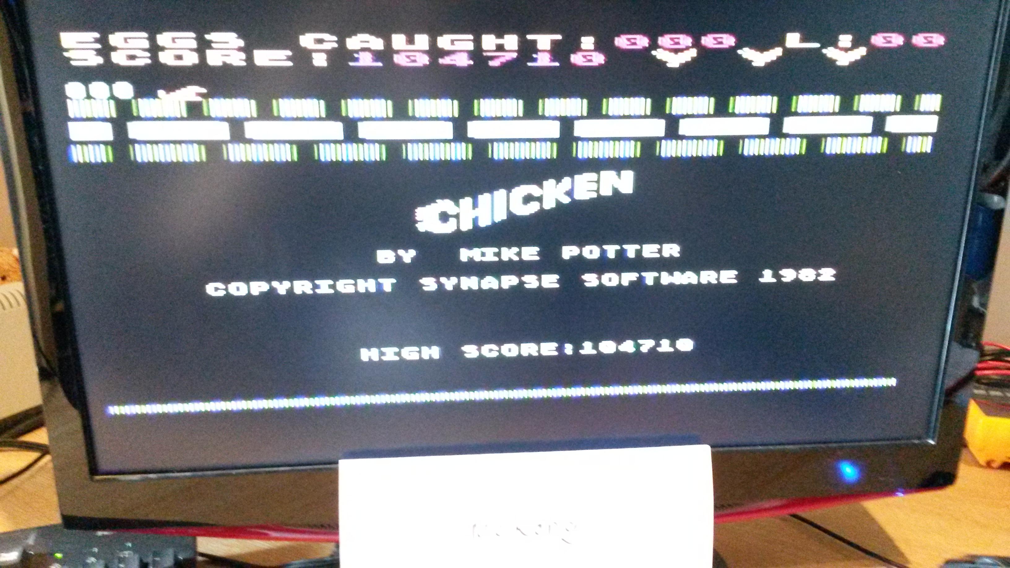Chicken 104,710 points