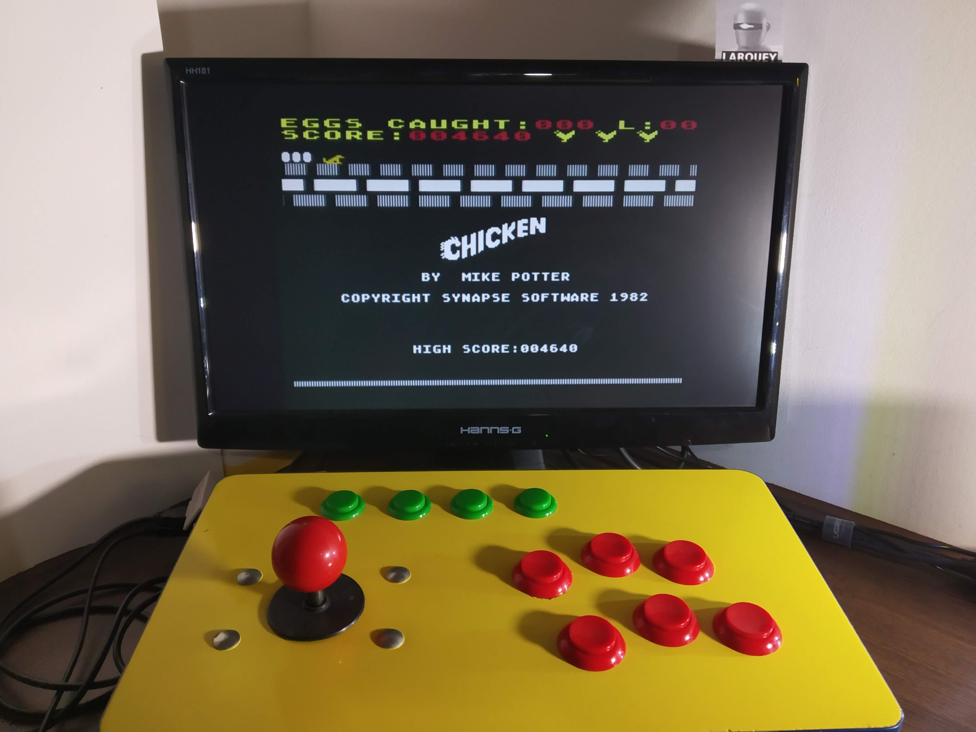 Larquey: Chicken (Atari 400/800/XL/XE Emulated) 4,640 points on 2020-01-02 08:29:39