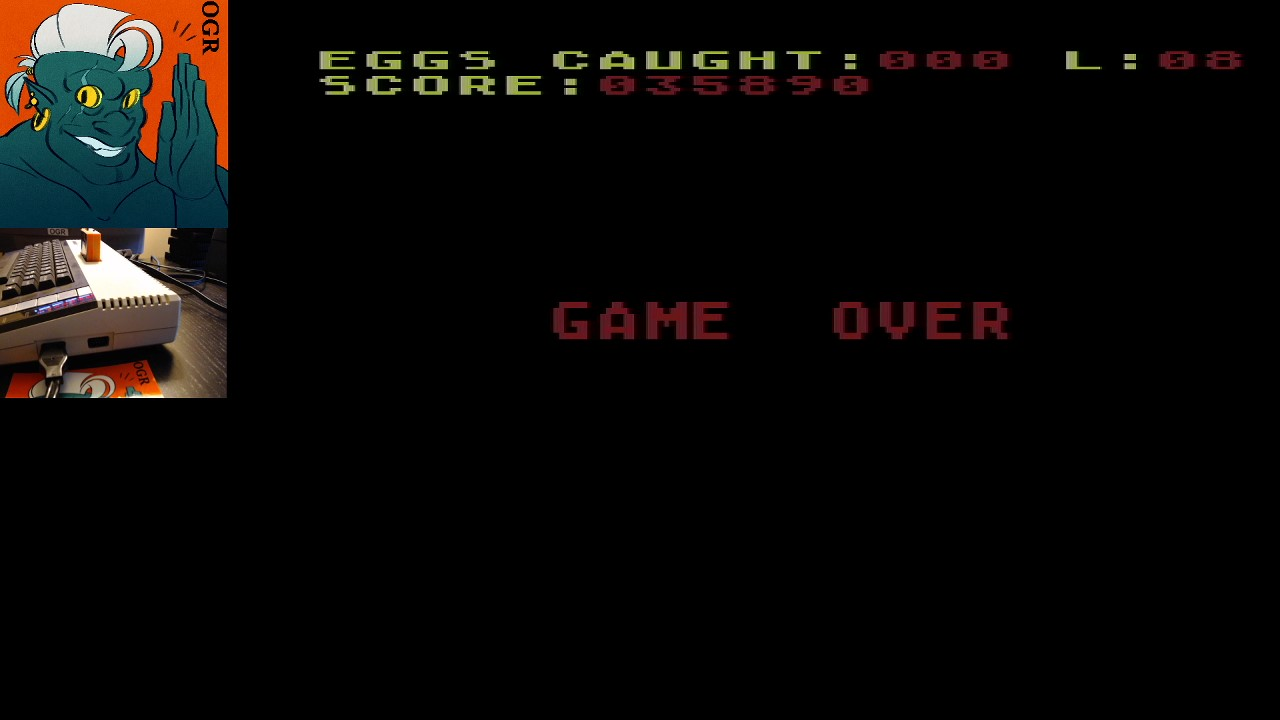 AwesomeOgre: Chicken (Atari 400/800/XL/XE) 35,890 points on 2020-04-27 17:40:18