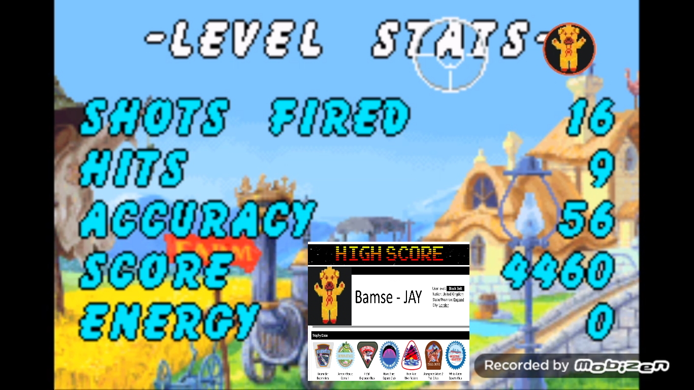 Bamse: Chicken Shoot [Arcade: Easy] (GBA Emulated) 4,460 points on 2019-10-31 14:55:09