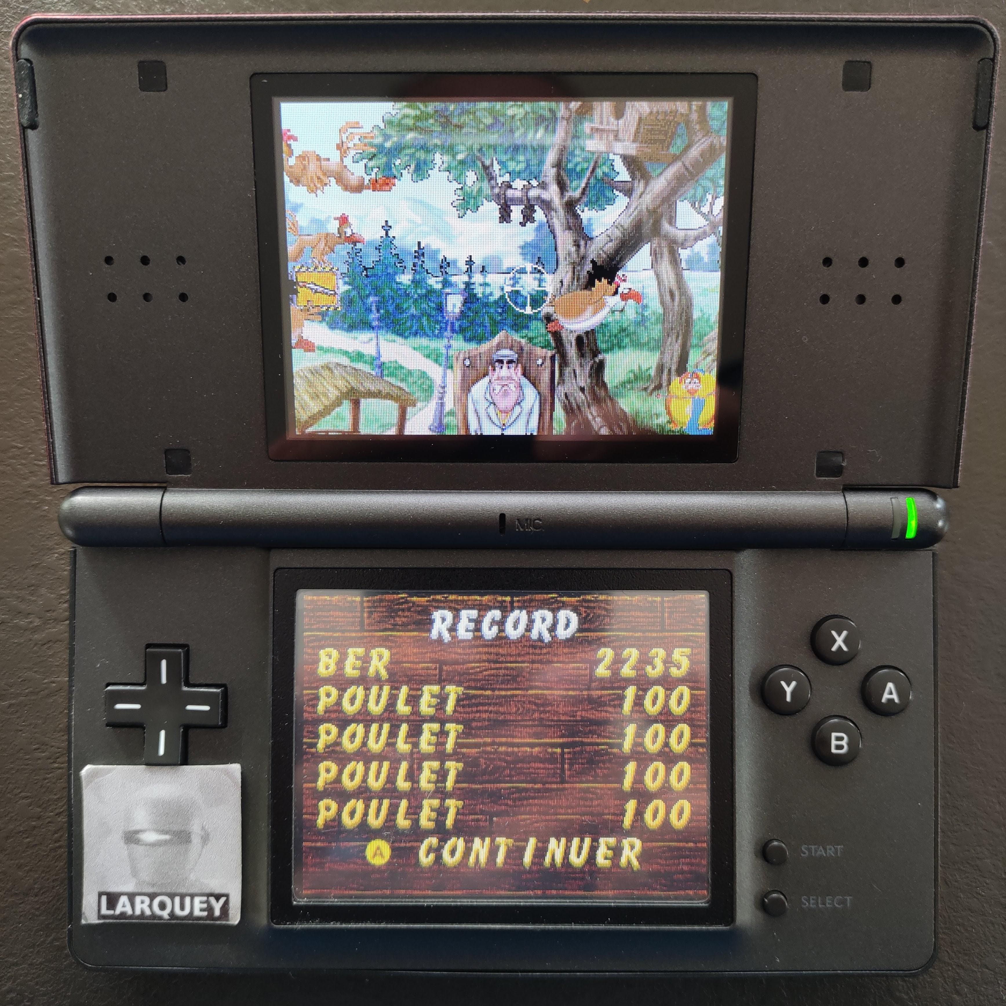 Larquey: Chicken Shoot [Arcade: Easy] (Nintendo DS) 2,235 points on 2020-09-27 03:23:47