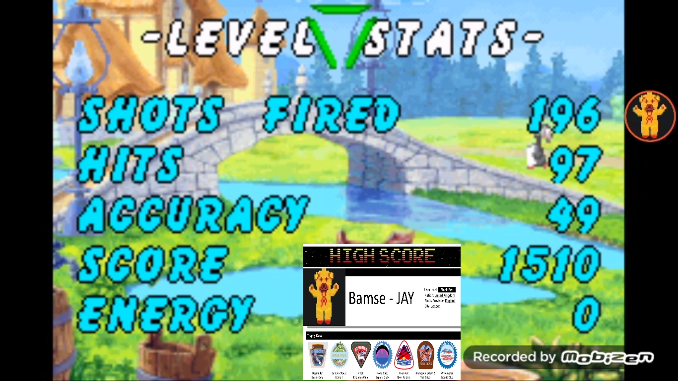 Bamse: Chicken Shoot [Arcade: Hard] (GBA Emulated) 1,510 points on 2019-10-31 14:56:54