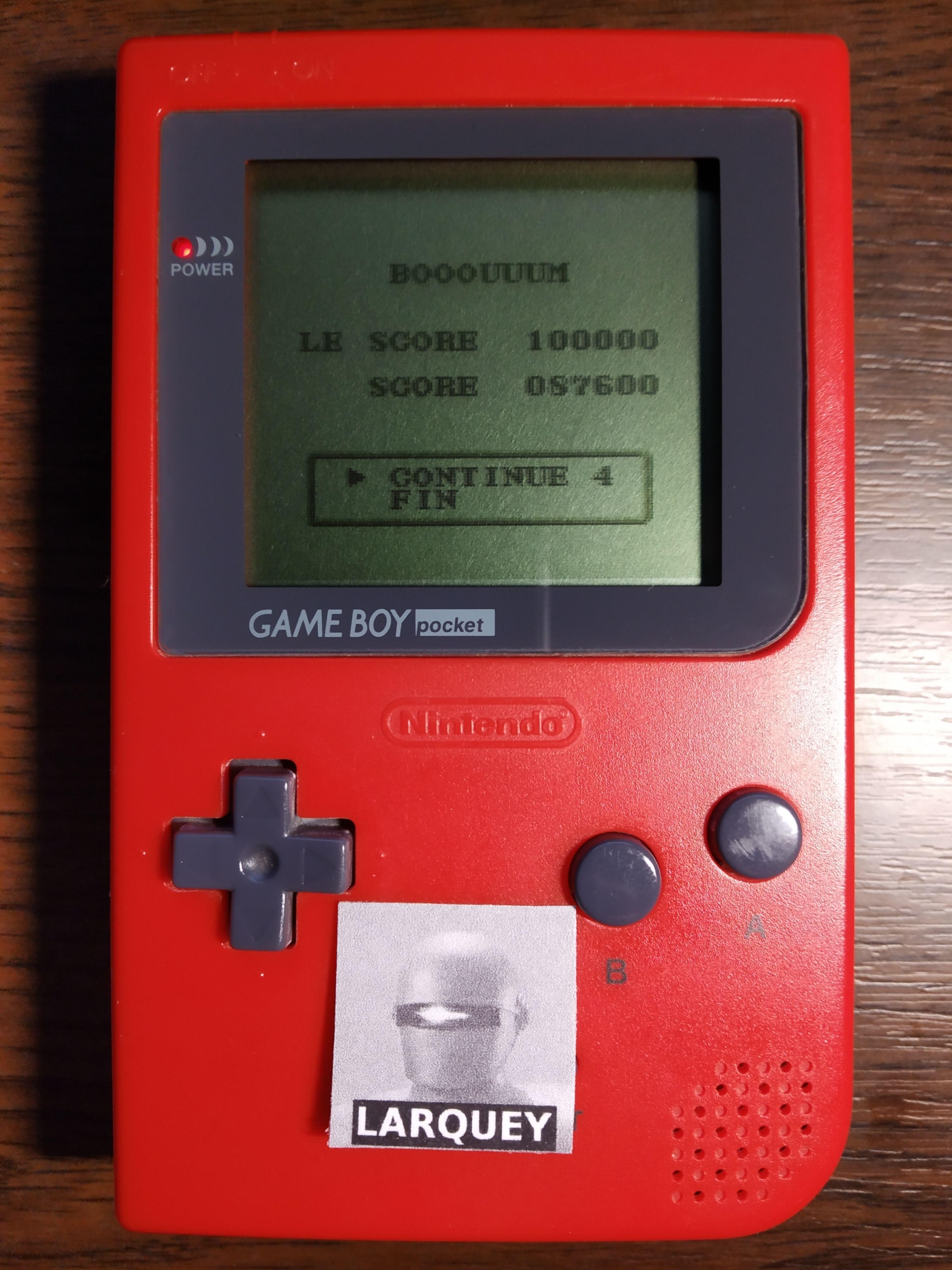 Larquey: Chikyu Kaiho Gun ZAS [Easy] (Game Boy) 87,600 points on 2019-12-01 12:10:07