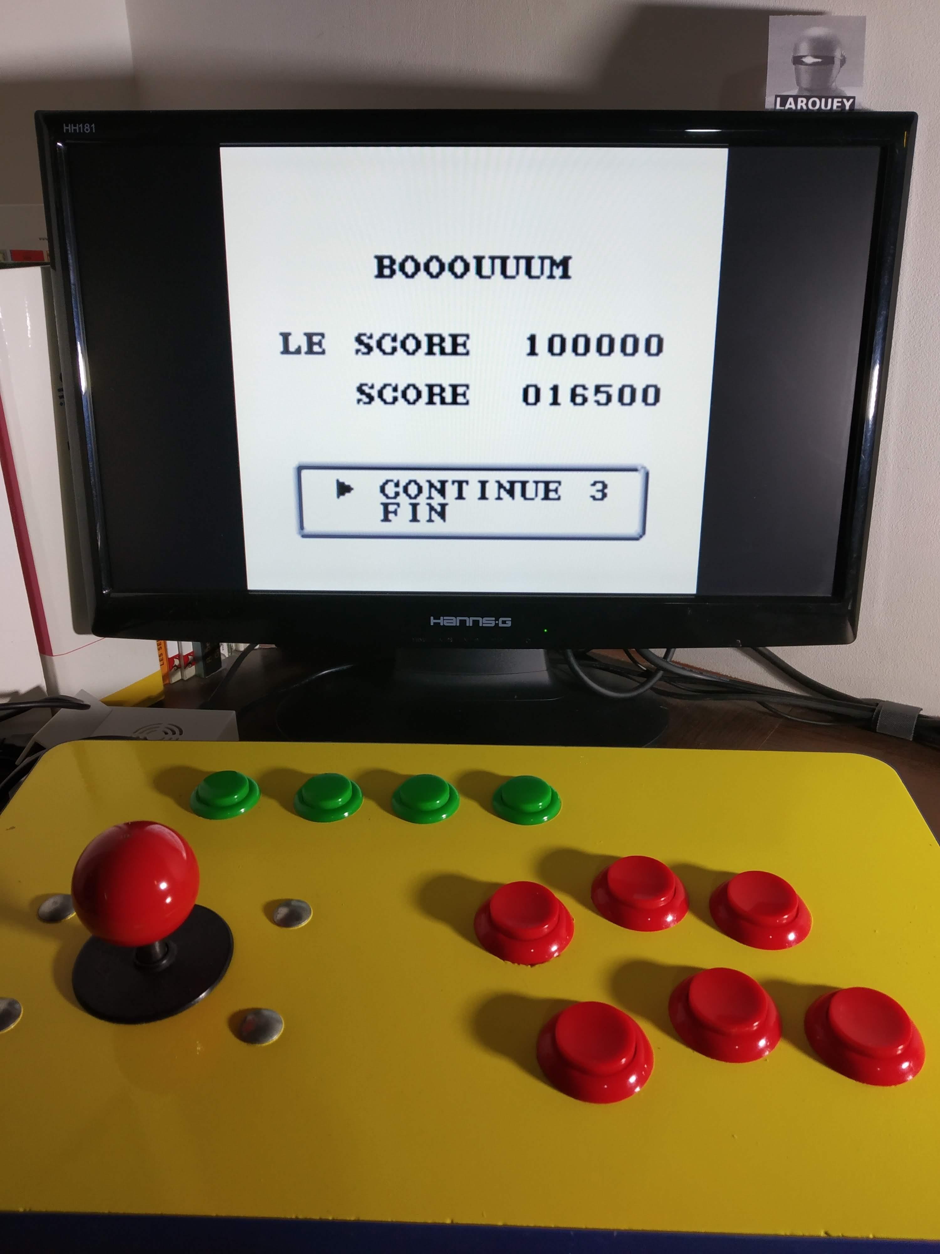Larquey: Chikyu Kaiho Gun ZAS [Hard] (Game Boy Emulated) 16,500 points on 2019-12-02 07:54:23