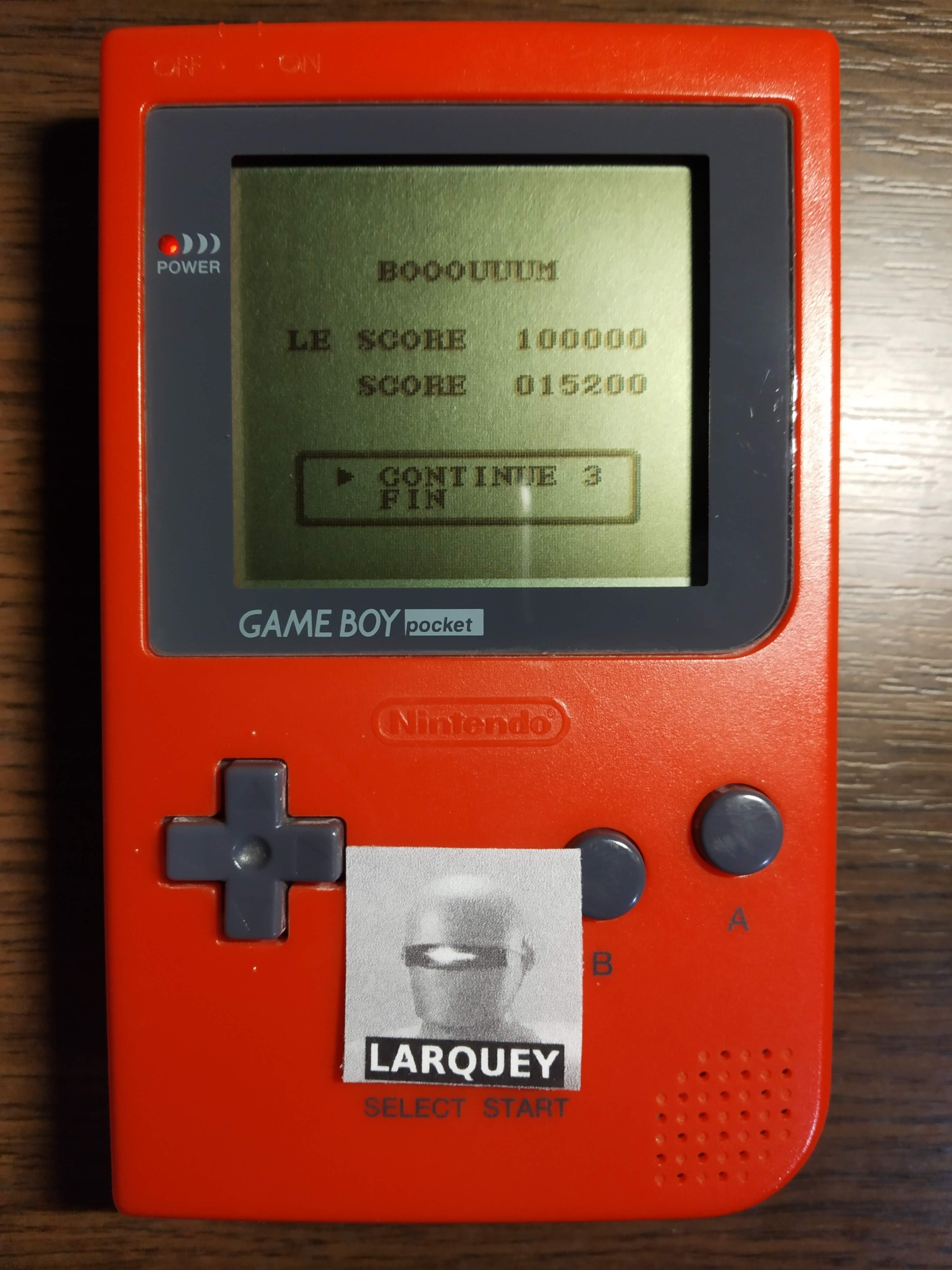 Larquey: Chikyu Kaiho Gun ZAS [Hard] (Game Boy) 15,200 points on 2019-12-02 14:25:57