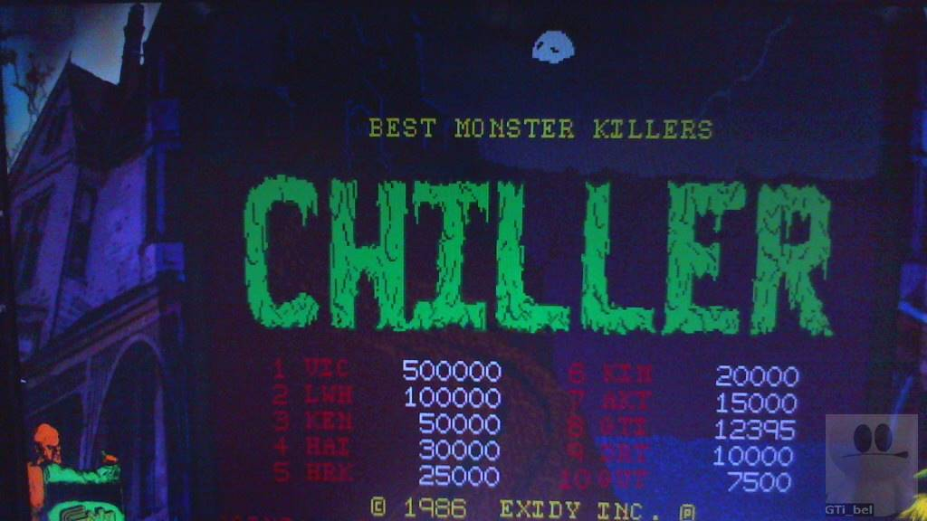 GTibel: Chiller (Arcade Emulated / M.A.M.E.) 12,395 points on 2018-10-31 09:38:36