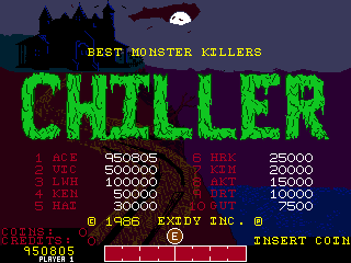 Dumple: Chiller (Arcade Emulated / M.A.M.E.) 950,805 points on 2019-08-25 14:52:36