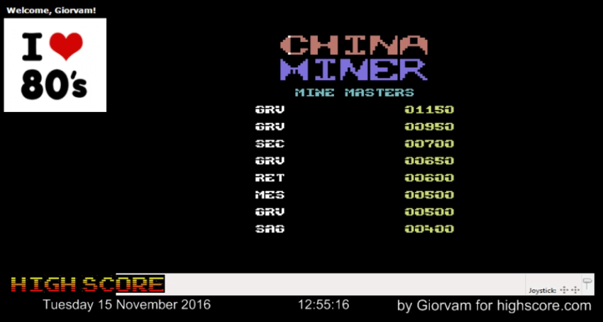 China Miner 1,150 points