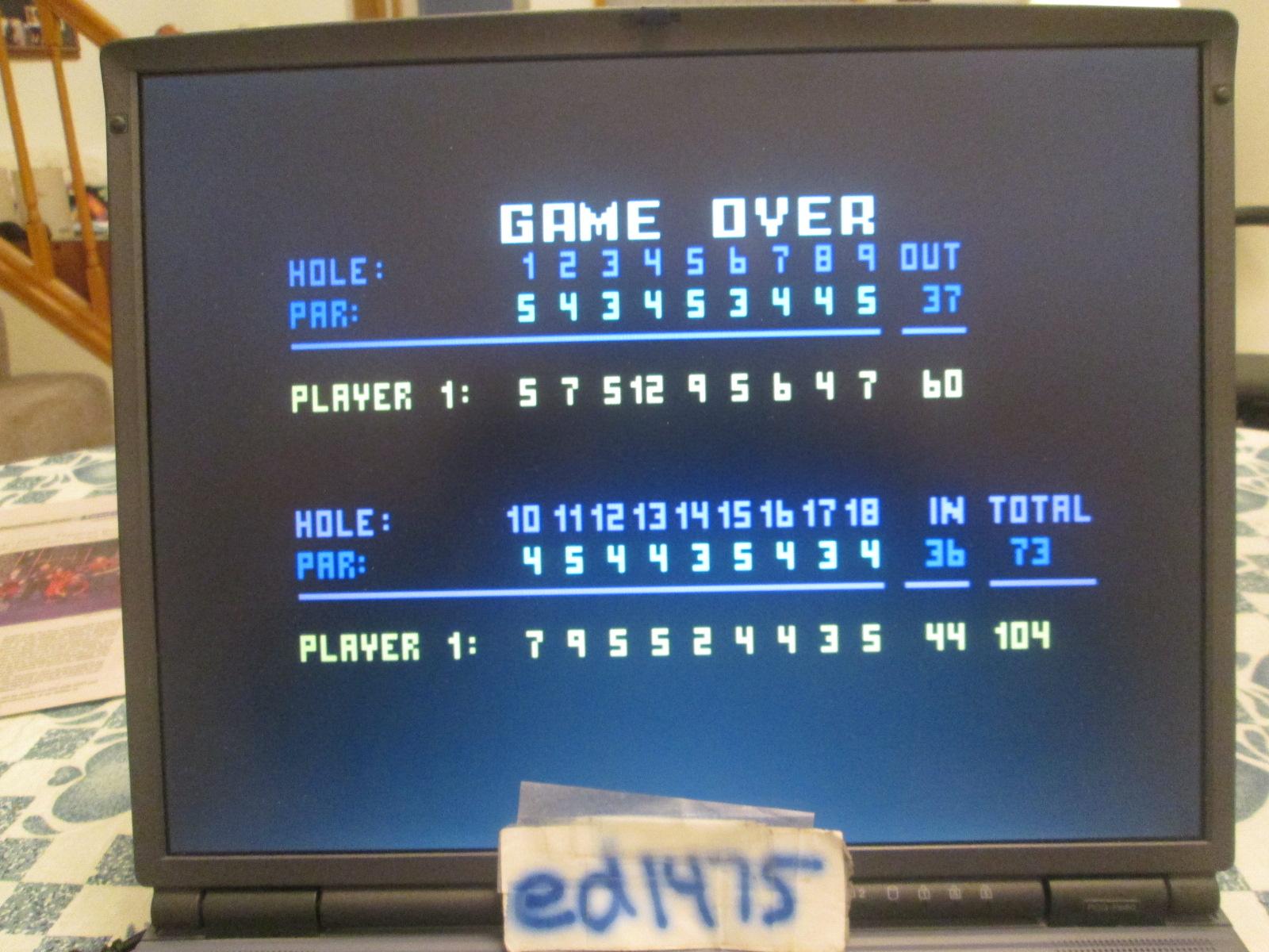 ed1475: Chip Shot: Super Pro Golf [Celebrity Pro-Am: 18 Holes] (Intellivision Emulated) 104 points on 2018-10-17 22:44:45