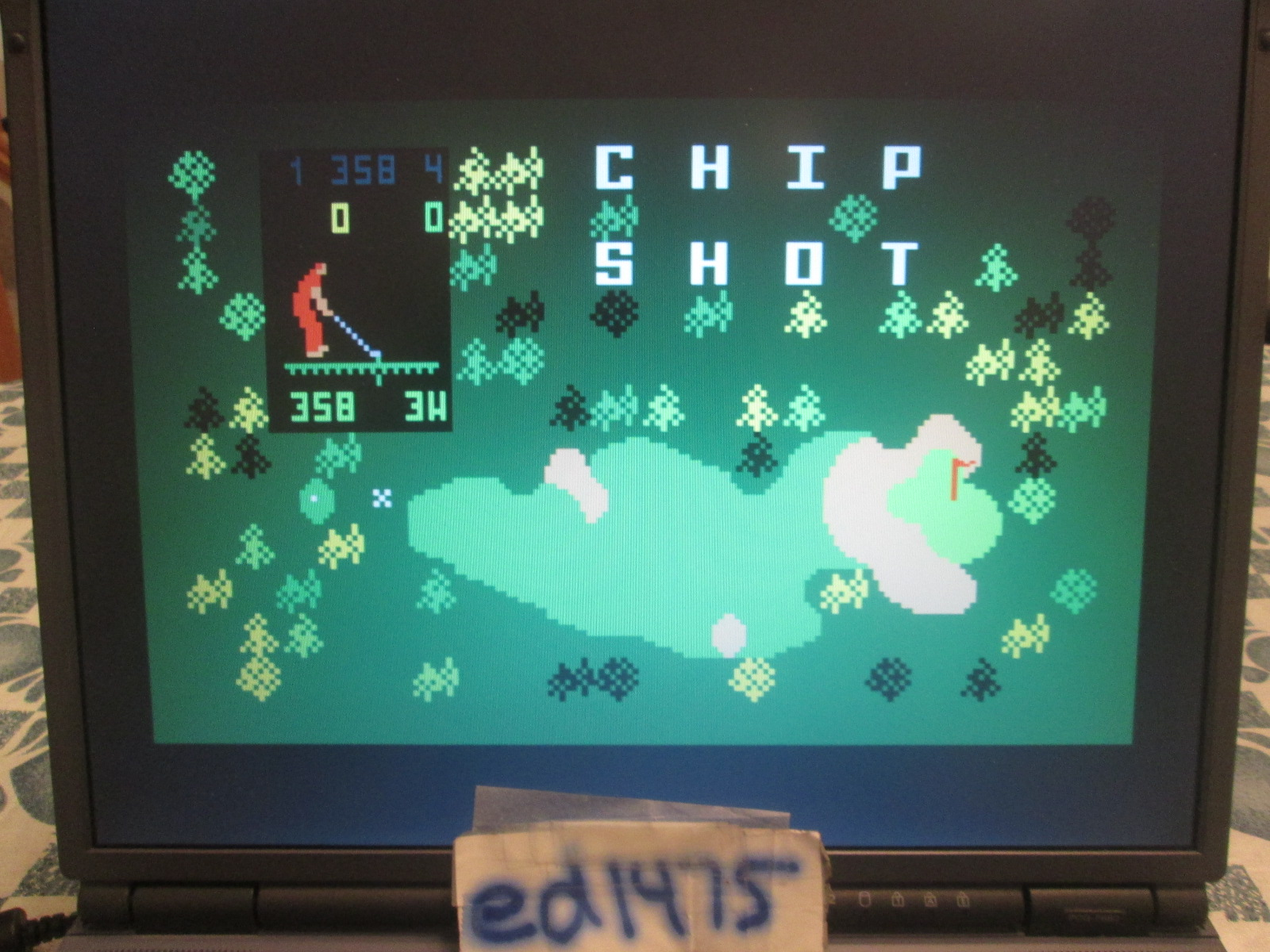 ed1475: Chip Shot: Super Pro Golf [Classic Course: 18 Holes] (Intellivision Emulated) 98 points on 2018-10-17 22:41:06