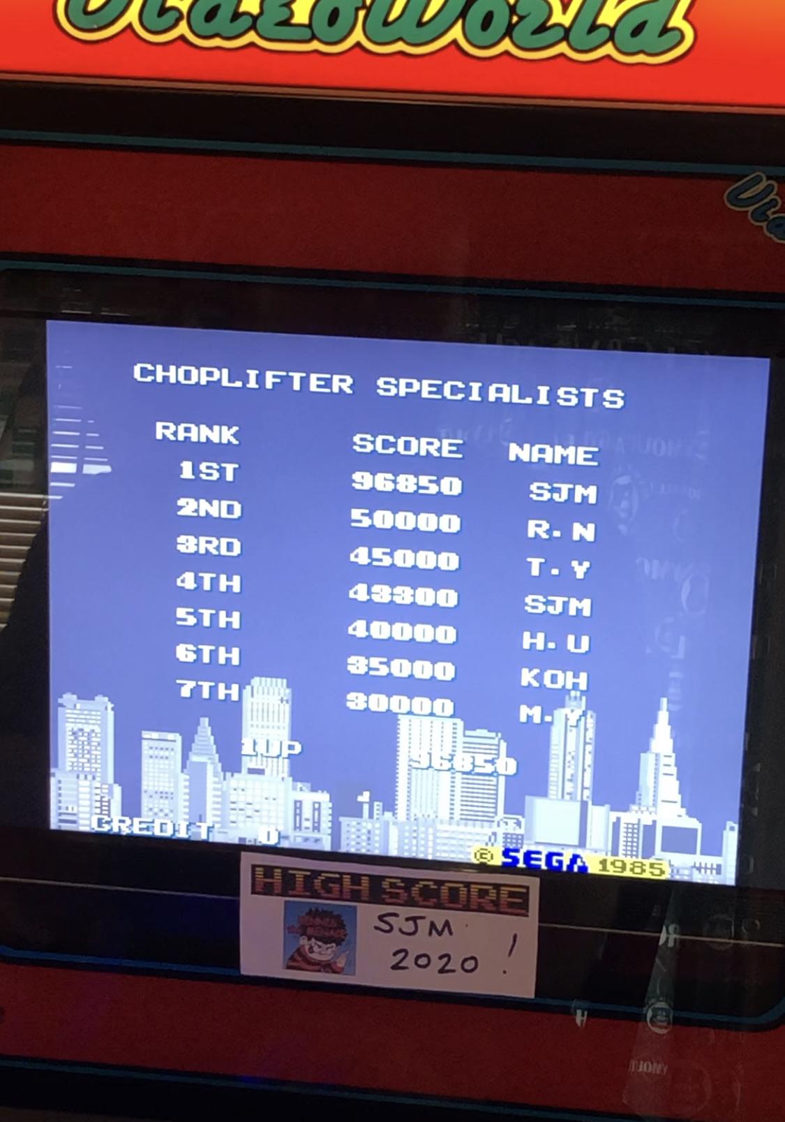 Choplifter 96,850 points