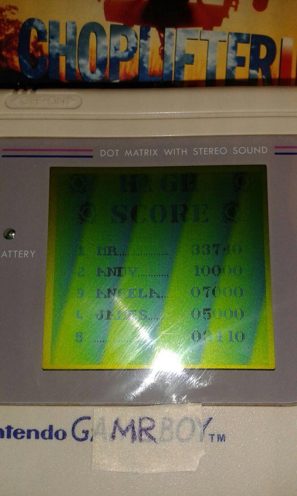 MartinoRagosa: Choplifter II (Game Boy) 33,740 points on 2017-08-21 14:42:25
