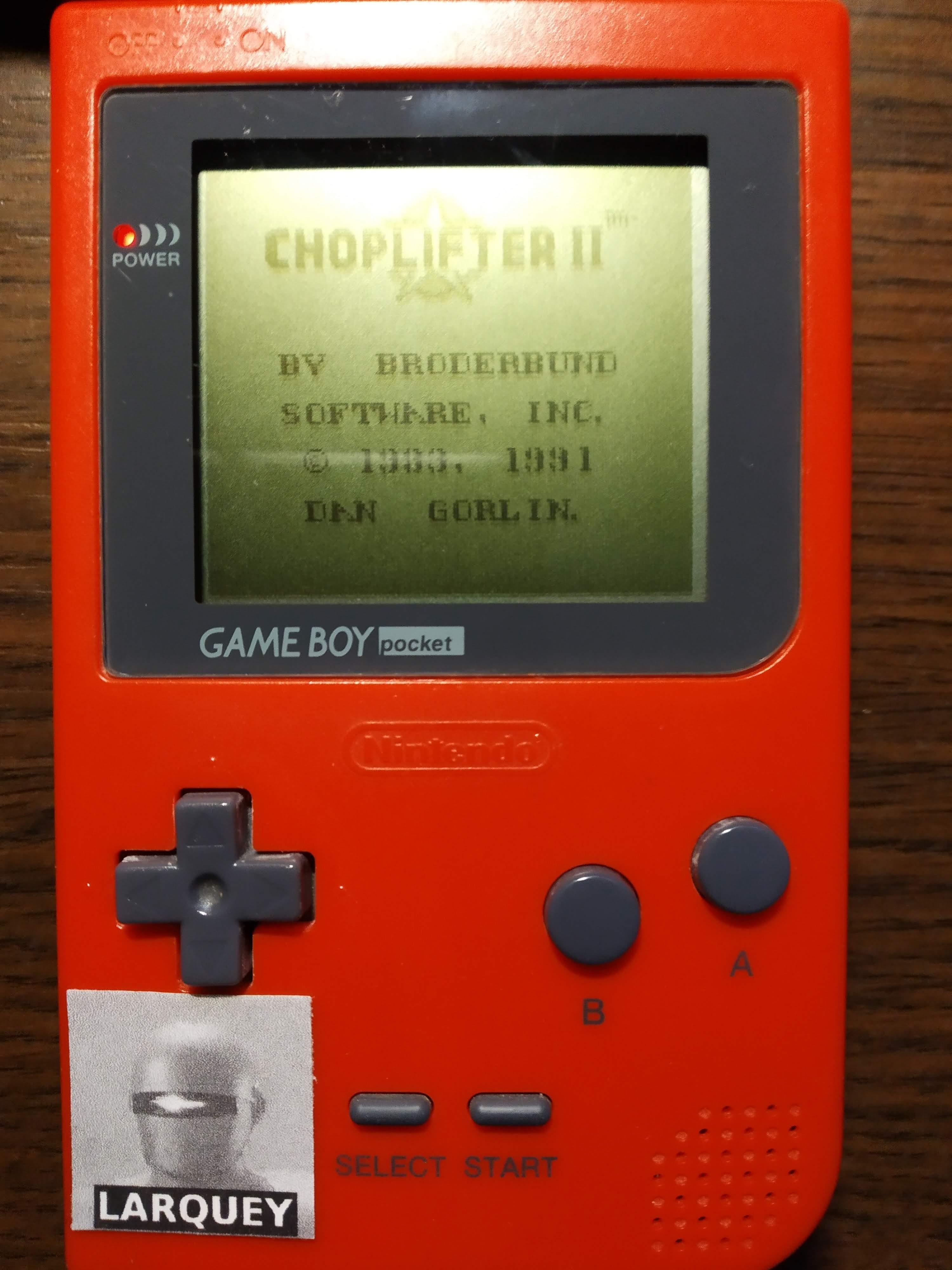 Larquey: Choplifter II (Game Boy) 3,230 points on 2019-12-14 12:18:36