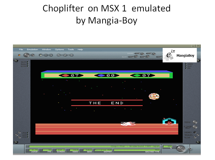 MangiaBoy: Choplifter (MSX Emulated) 7 points on 2018-12-17 15:56:15