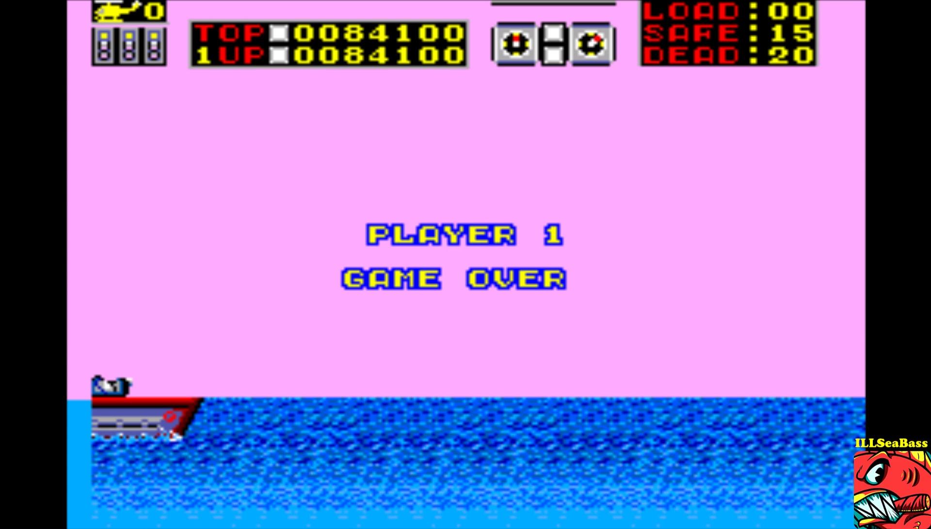 ILLSeaBass: Choplifter (Sega Master System Emulated) 84,100 points on 2017-02-27 21:52:19