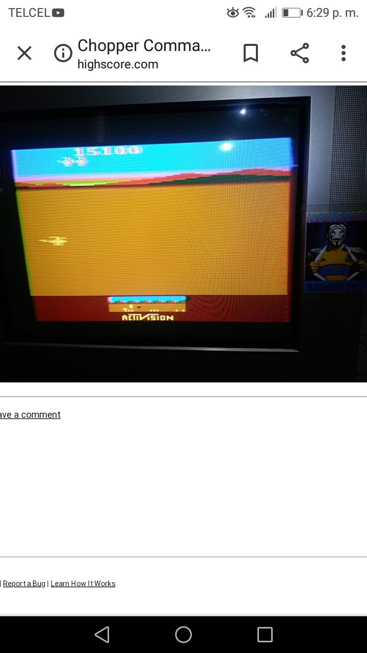 Sdrgio797: Chopper Command [1 Life Only] (Atari 2600 Expert/A) 15,100 points on 2020-08-11 19:30:52