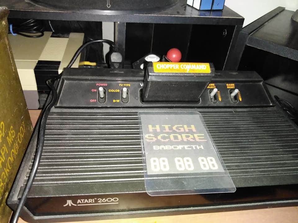 BabofetH: Chopper Command (Atari 2600 Expert/A) 999,999 points on 2020-08-15 01:56:32