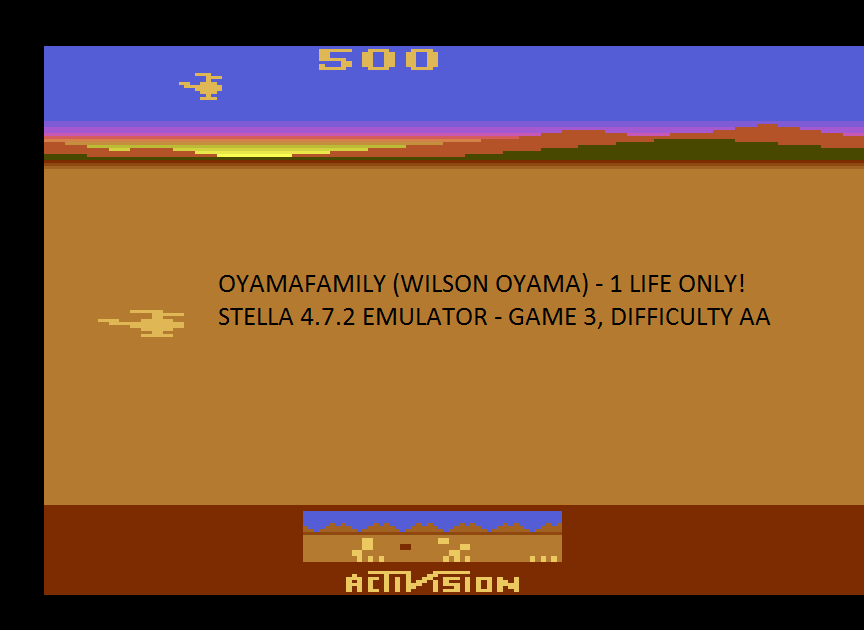oyamafamily: Chopper Command: Game 3 [1 Life Only] (Atari 2600 Emulated Expert/A Mode) 500 points on 2017-01-24 18:07:31