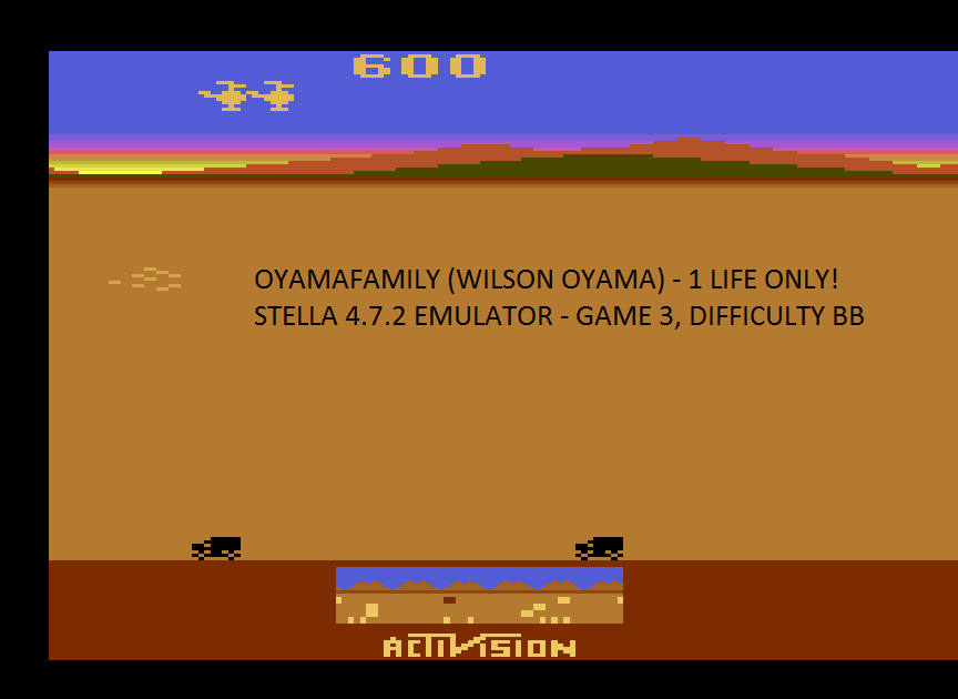 oyamafamily: Chopper Command: Game 3 [1 Life Only] (Atari 2600 Emulated Novice/B Mode) 600 points on 2017-01-24 18:06:16