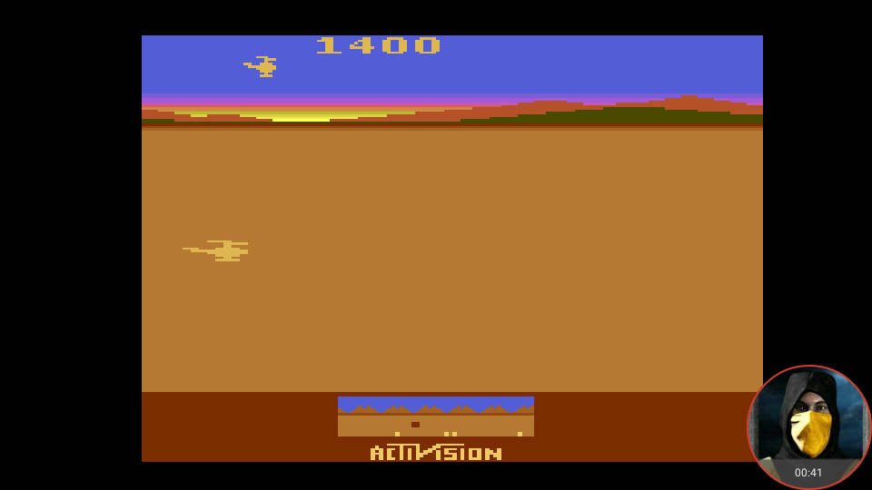 omargeddon: Chopper Command: Game 3 [1 Life Only] (Atari 2600 Emulated Novice/B Mode) 1,400 points on 2018-02-20 23:38:45