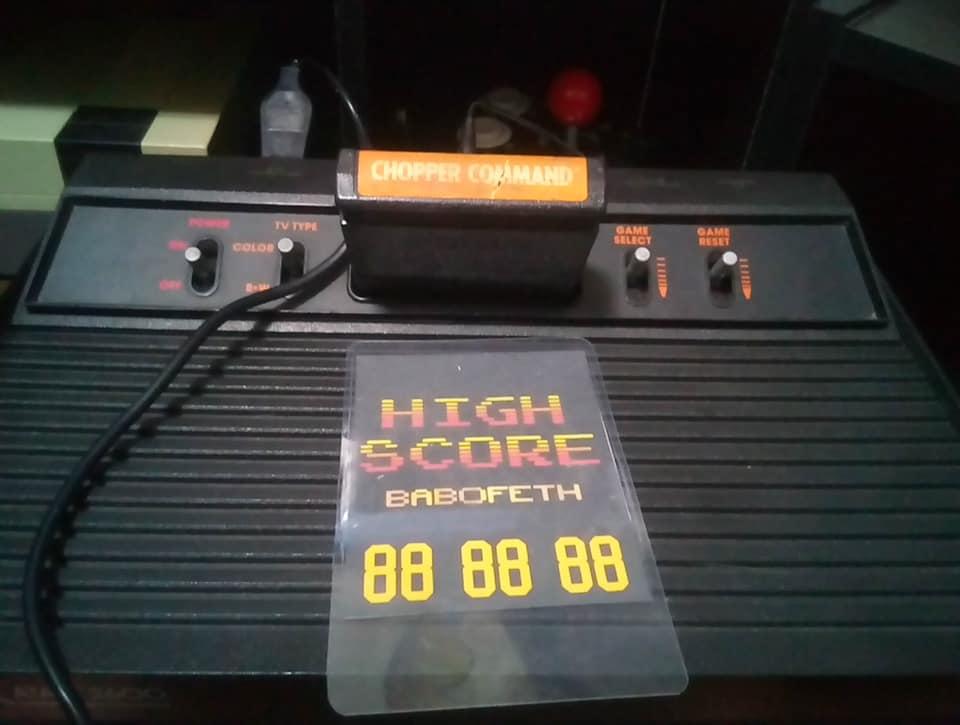 BabofetH: Chopper Command: Game 3 (Atari 2600 Novice/B) 999,999 points on 2020-08-15 02:09:37