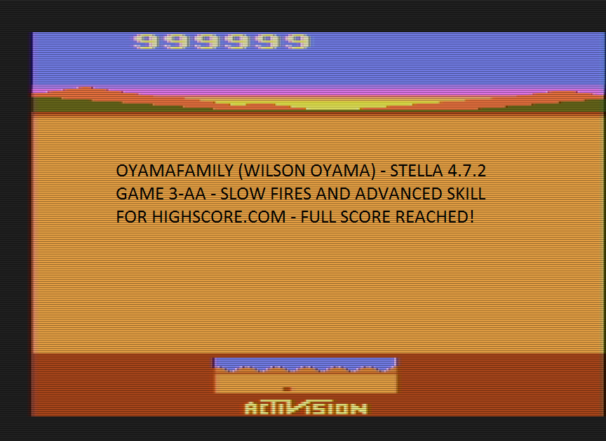 oyamafamily: Chopper Command: Game 3 (Atari 2600 Emulated Expert/A Mode) 999,999 points on 2016-07-03 15:55:23