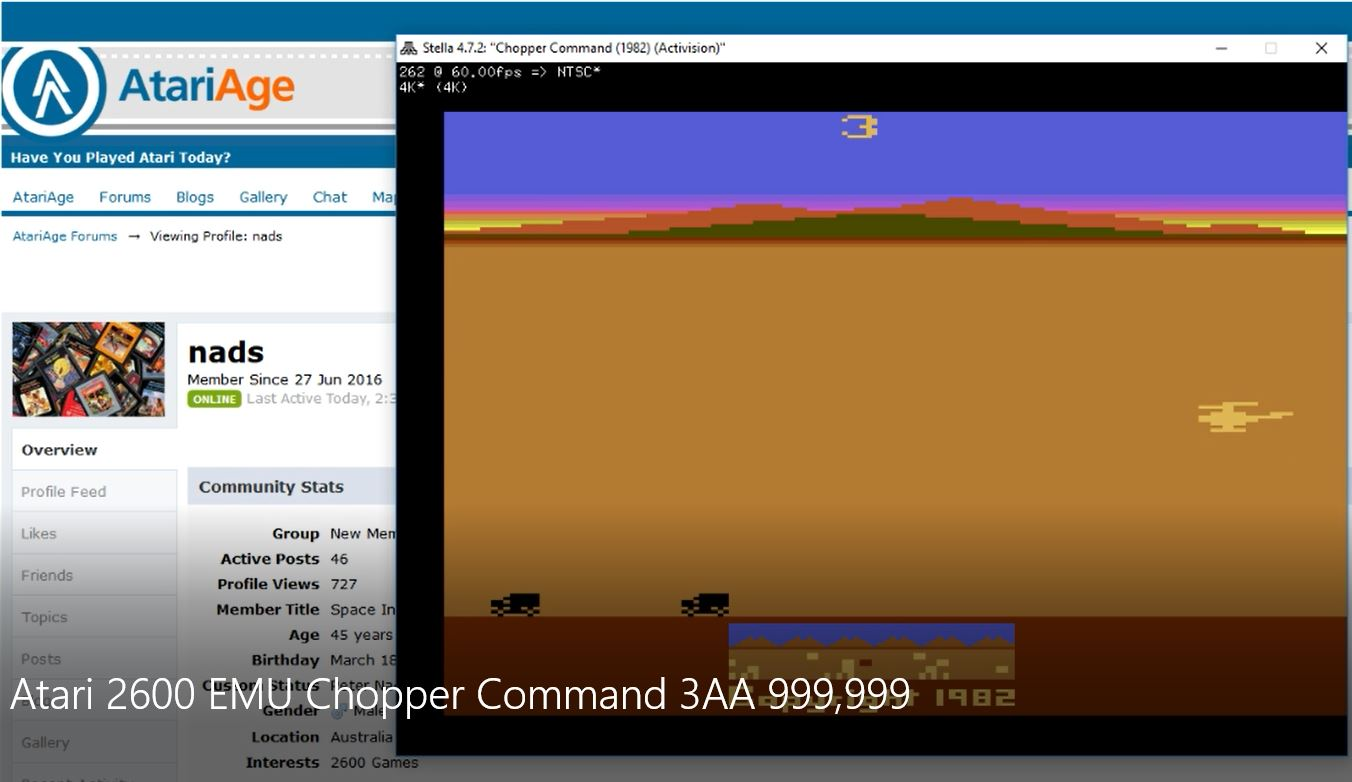 nads: Chopper Command: Game 3 (Atari 2600 Emulated Expert/A Mode) 999,999 points on 2017-03-22 07:11:19