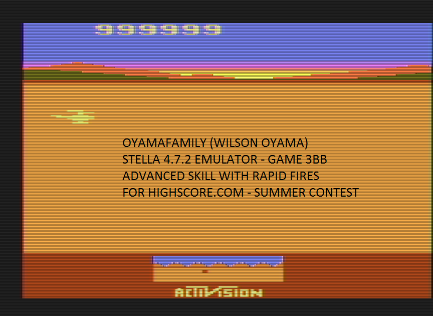 oyamafamily: Chopper Command: Game 3 (Atari 2600 Emulated Novice/B Mode) 999,999 points on 2016-07-17 19:00:02