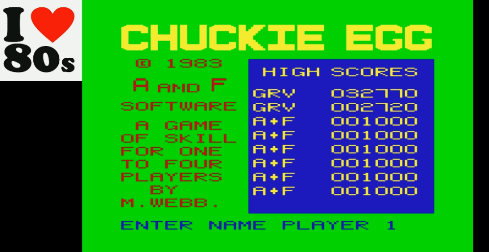 Chuckie Egg 32,770 points