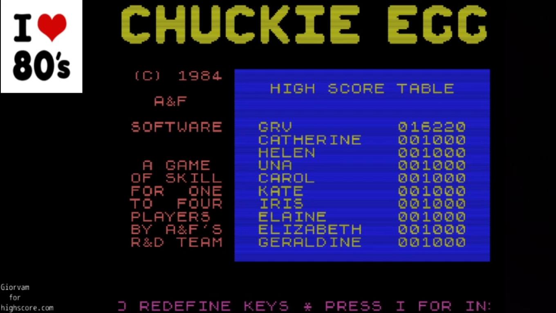 Giorvam: Chuckie Egg (MSX Emulated) 16,220 points on 2020-02-26 12:04:54