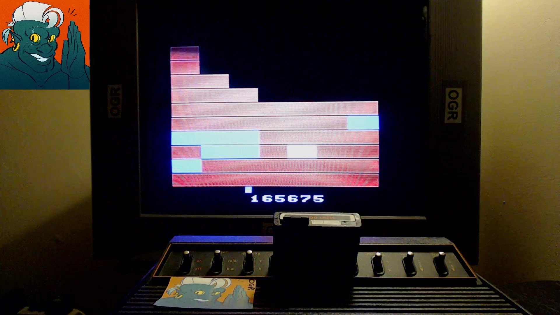 AwesomeOgre: Chunkout 2600 [Game AA] (Atari 2600) 165,675 points on 2019-10-16 21:25:10