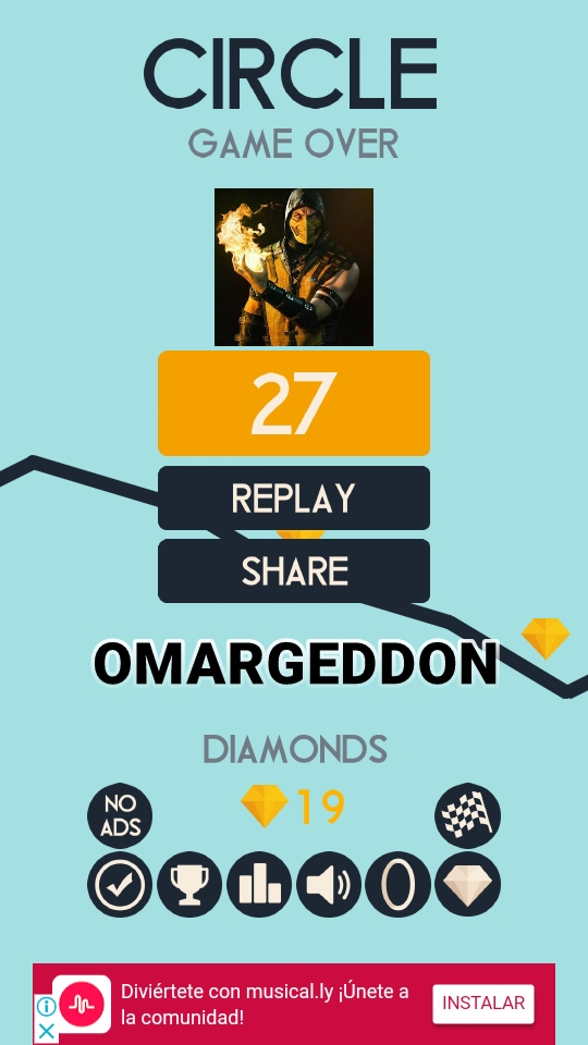 omargeddon: Circle (Android) 27 points on 2018-06-01 17:52:17