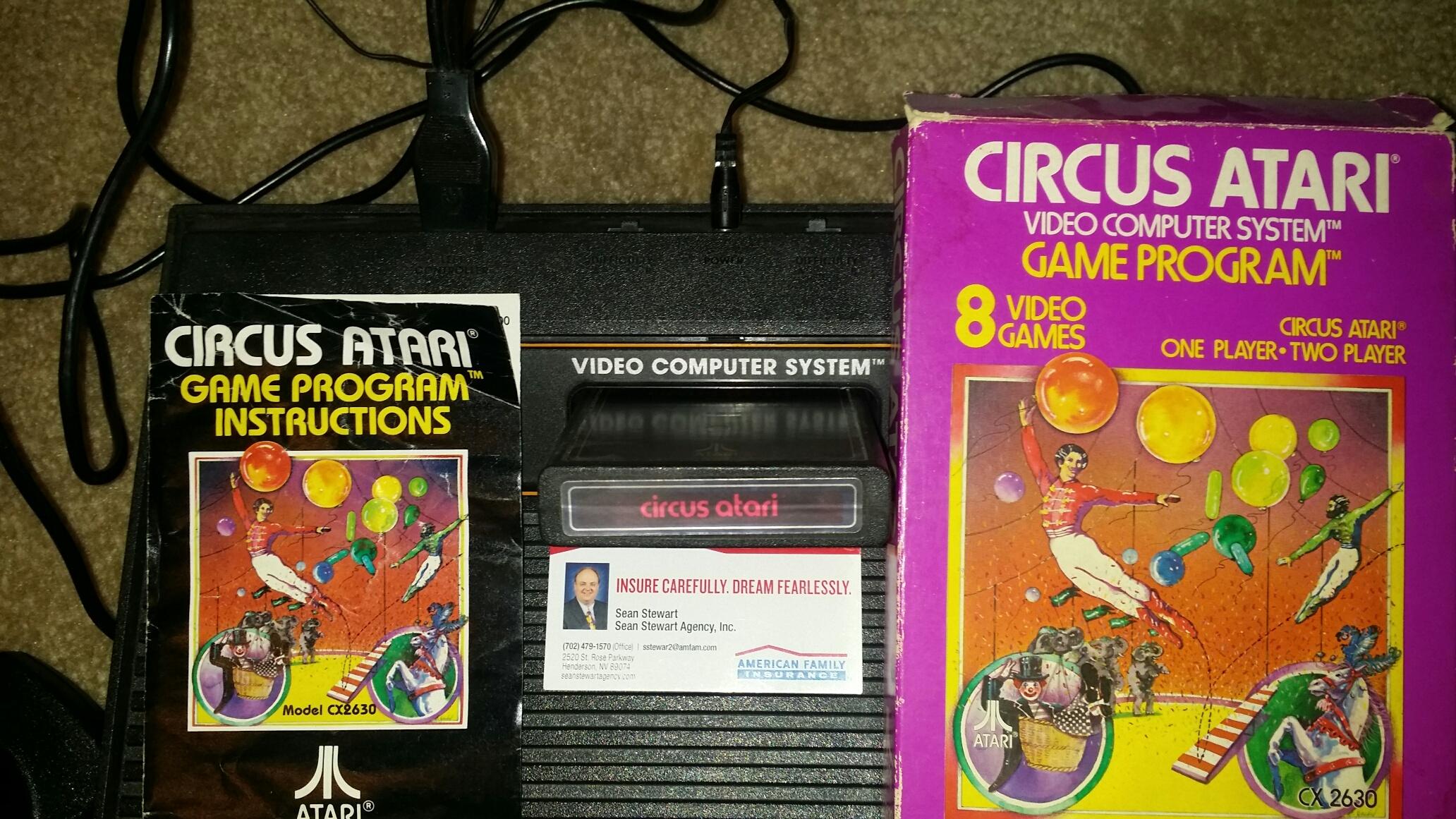 SeanStewart: Circus Atari (Atari 2600 Novice/B) 4,683 points on 2016-12-11 18:06:19