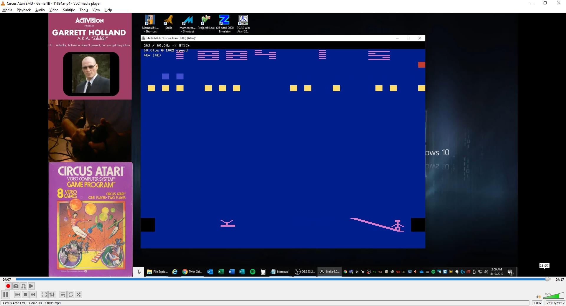 ZilchSr: Circus Atari (Atari 2600 Emulated Novice/B Mode) 11,884 points on 2019-08-21 00:40:40