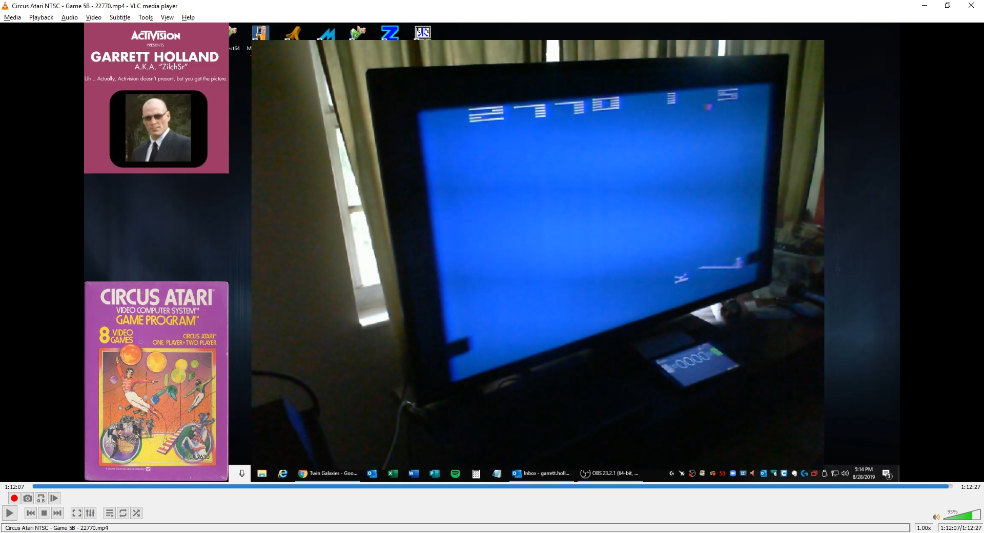 ZilchSr: Circus Atari: Game 5 (Atari 2600 Novice/B) 23,960 points on 2019-09-29 17:03:03
