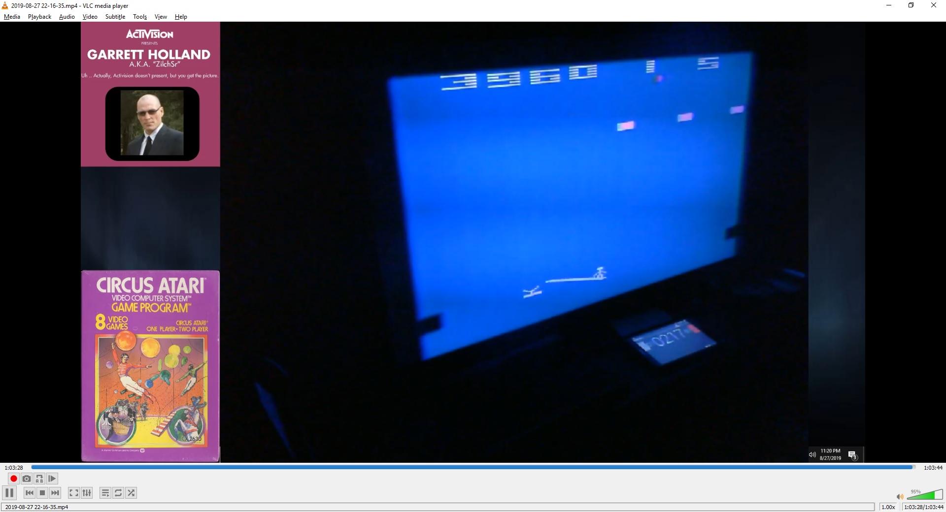 ZilchSr: Circus Atari: Game 6 (Atari 2600 Novice/B) 23,960 points on 2019-09-29 16:57:24