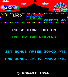 GAMES: Circus Charlie (Arcade) 1,000 points on 2019-12-22 05:58:51