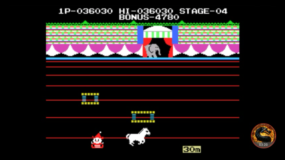 omargeddon: Circus Charlie (Colecovision Emulated) 36,030 points on 2018-07-23 00:37:03