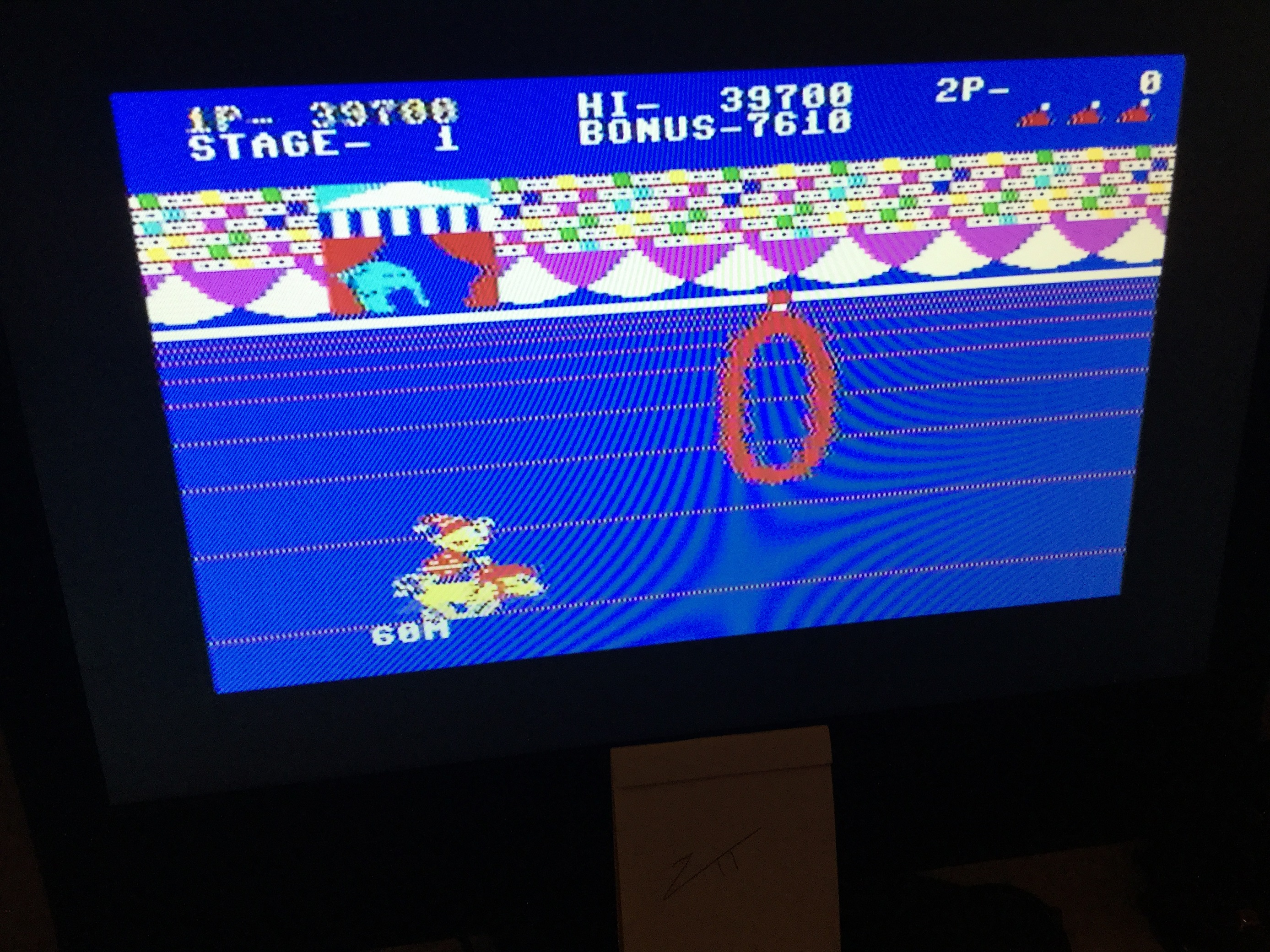 Frankie: Circus Charlie: Easy (Commodore 64) 39,700 points on 2020-12-26 11:19:25